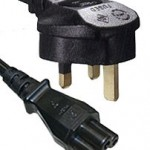IEC320 C5 to UK Plug Mains Lead, 1.8 Metre